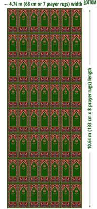 seccadeli cami halısı ölçüleri